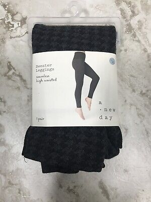 $12.70 • Buy A New Day Women's Seamless High Waist Houndstooth Sweater Leggings Size L/XL