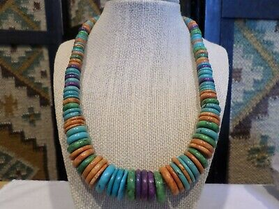 $128.50 • Buy Jay King DTR Sterling Graduating Turquoise Spiny Sugilite Beads 21  Necklace