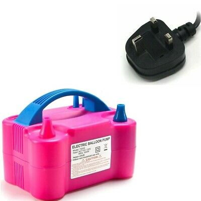 £19.99 • Buy Portable Dual Nozzle Electric Balloon Pump Inflator Air Blower Party Birthday