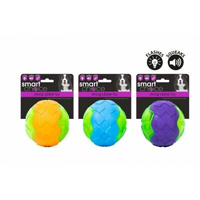 Strong Rubber Dog Toy - Rugby Ball,  Flashing Ball, Tyre, Dental Toy  • 6.50£