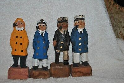 $25 • Buy 4 Hand Carved Wooden Sculpture  Captain Fisherman