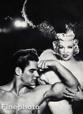 $189.74 • Buy 1954 Mae West & Gay Nude Male Muscle Beefcake - Richard Avedon Vintage Photo Art