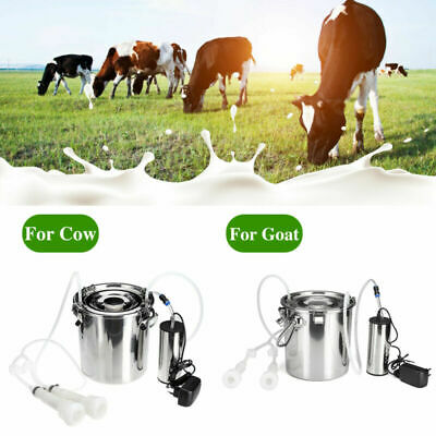 $108.99 • Buy 5L Electric Milking Machine Cow/Goat Milker Stainless Steel Tank Double Heads