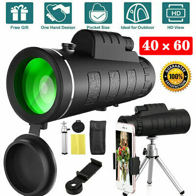 Super High Power 40X60 Portable HD Night Vision Monocular Telescope Binoculars • 12.99£