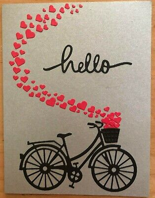$5.25 • Buy One Bicycle/hearts Greeting Card With Embossed Envelope