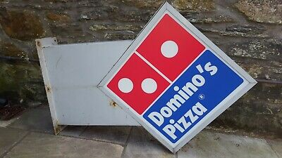 Vintage Dominos Pizza Shop Advertising Sign • 135£
