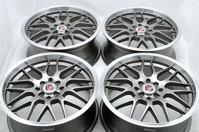 $539 • Buy 4 New DDR T3 17x7 4x100/114.3 38mm Gunmetal/Polished Lip 17  Wheels Rims