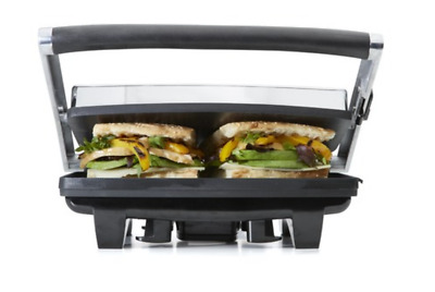 AU49.50 • Buy 4 Slice Sandwich Press Toaster Ham And Cheese Flat Bread Toaster Non Stick Coat