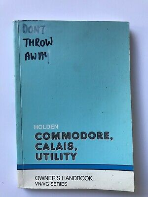 AU49 • Buy Holden Commodore VN/VG SS HSV Owners Book