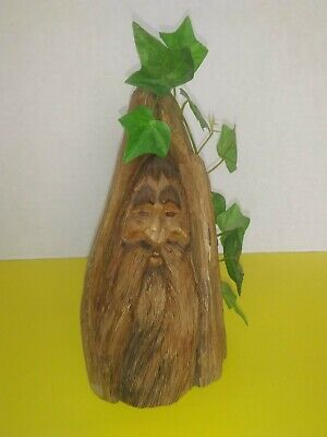 $10 • Buy Hand Carved Wooden Face Preowned