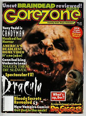 $3.50 • Buy Gorezone #25 Special 1992 Vf- 7.5 O'quinn Studios Publishing - Includes Posters