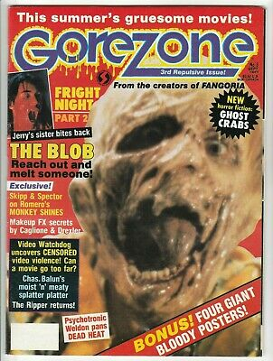 $2.50 • Buy Gorezone #3 Sept 1988 Fine 6.0 O'quinn Studios Pubs - Includes 4 Giant Posters