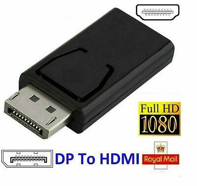 Display Port DP Male To HDMI Female Flat Adapter Connector Converter For HDTV PC • 3.49£