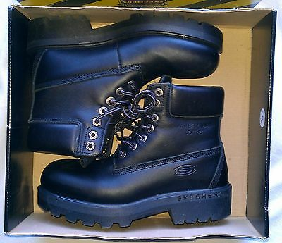 NEW Size 7 Skechers Squads Waterproof Black Boots 6844/BLK  Made In Italy   • 54.21£