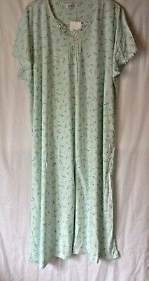 New Ladies Poly/cotton Jersey Long Floral Kaftan Style Nightdress *2 Colours* • 14.50£