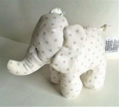 £9.99 • Buy Mothercare Grey Spotted Elephant Baby Comforter Toy 7  Machine Washable
