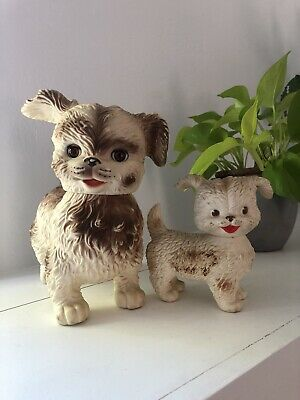 $20 • Buy 2 Vintage Rubber Squeak Toy Lot Edward Mobley Open Close Eye Dog Puppy Baby