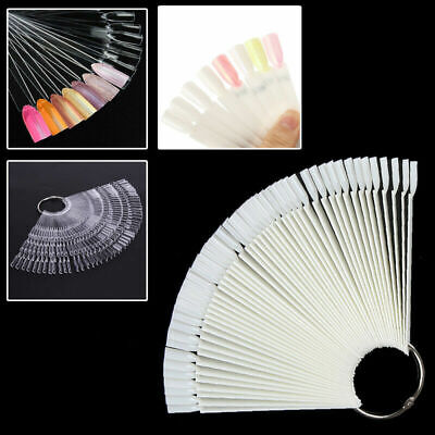 NAIL COLOUR DISPLAY Sharp Clear Pink Black White SWATCHES Pop Sticks Sample Fan • 3.79£