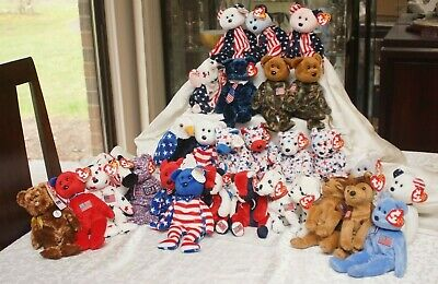 $100 • Buy Ty Beanie Baby USA Themed (36 Beanies & 5 Teenies)