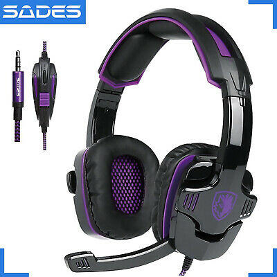 AU30.20 • Buy SADES SA-930 Professional PS4 Headset 3.5mm Gaming Headphones For PS4 Xbox One