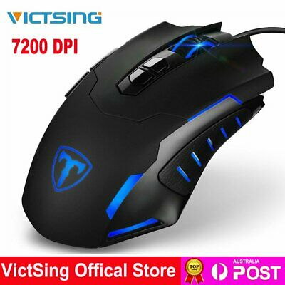 AU31.38 • Buy VicTsing USB Wired  Gaming Mouse 7200 DPI Programmable Ergonomic Computer Mice