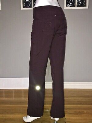 $ CDN68 • Buy Lululemon Carry Less Carry More Pant 6 Burgandy Trouser Pant Vguc