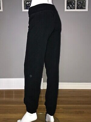 $ CDN68 • Buy Lululemon Cuddle Up Pant 6 Black Stretch French Terry Lulu Pant Ii Sweatpant