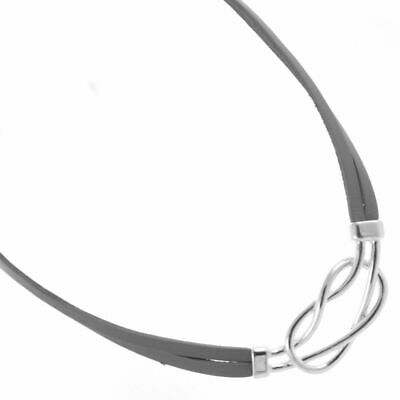£8.79 • Buy Statement Fashion Jewellery: Double Leather Cord Necklace With Silver Knot (M...