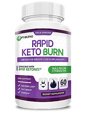 $34.99 • Buy Rapid Keto Burn By Optiblend - Weight Loss Support -FREE SHIP- Rapid Keto Burn