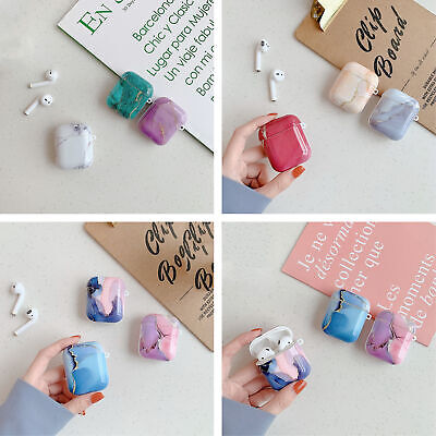 $ CDN6.47 • Buy Marble Pattern Silicone Soft Earphone Case Cover For Apple Airpods Pro 1st 2nd