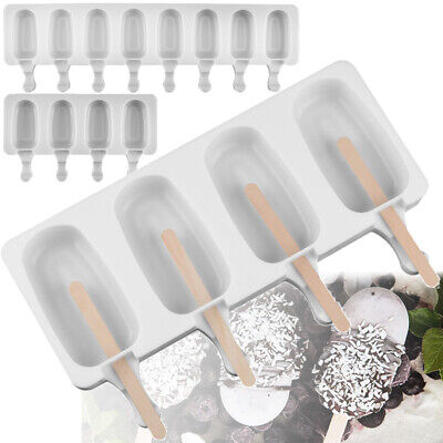 Silicone Ice Cream Cake Mold Ice Lolly Baking Frozen Mould Tray DIY Kitchen UK • 4.55£