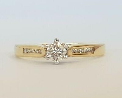 AU529 • Buy 9CT YELLOW GOLD DIAMOND SOLITAIRE DRESS RING TDW 0.325cts VALUED $2085