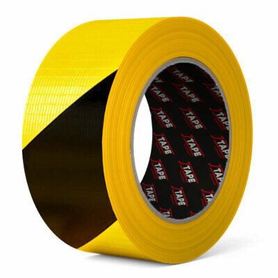 £4.99 • Buy Hazard Tape, PE Laminated Synthetic Cloth Duct Tape Easy Tear, Made By JTAPE UK