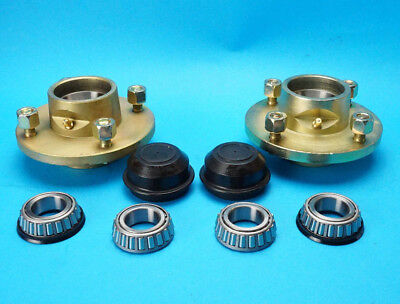 Pair Of Wheel Hubs 4  PCD 4 Stud For Ifor Williams P6E Trailers BEFORE 1996 • 47.50£
