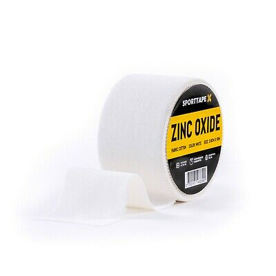 Zinc Oxide Tape - 4 Sizes - White Medical Clinical Tape, Athletic Strapping  • 6.99£