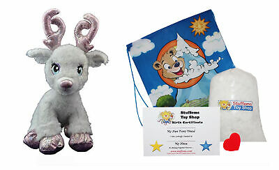 $11.99 • Buy Make Your Own Stuffed Animal Mini 8 Inch Very Soft Sparkles The Reindeer Kit - N