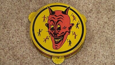$ CDN253.74 • Buy Original Vintage Tin Lithograph Halloween Devil Tambourine Noisemaker ~NICE ONE~