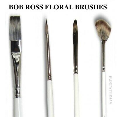 Bob Ross Floral Brushes - Bob Ross Floral Painting Brushes - Cheapest Online :) • 11.99£