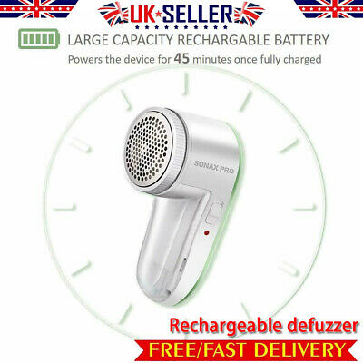Electric Fabric Shaver Defuzzer Clothes Lint Remover Cleaner USB Rechargeable UK • 10.99£