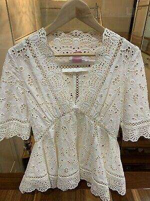 AU149 • Buy Zimmerman Ivory Embodied Lace Top