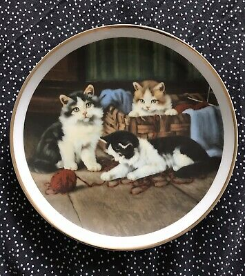 £10 • Buy Charming Decorative Cat Plate From A Series Of Delightful Kitten Scenes.
