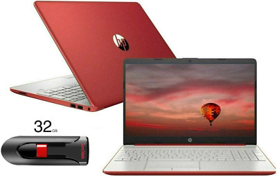 "View Details NEW HP 15.6"" HD Red Laptop Intel Quad Core 2.4GHz 4GB RAM Webcam Windows 10 • 389.99$"