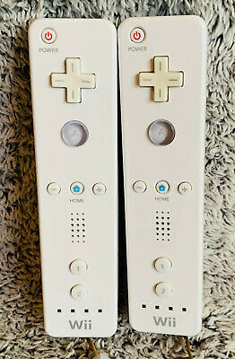 $ CDN51.25 • Buy 2 Official Nintendo Wii REMOTE Controllers LOT White Tested Working RVL-003