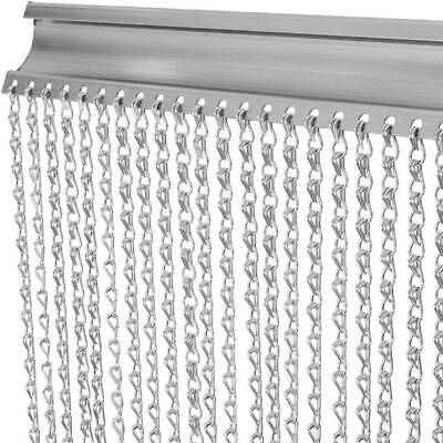 Silver Metal Chain Insect Fly Door Curtain Hang Screen Aluminium Pest Control • 29.99£