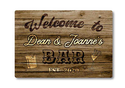 £11.95 • Buy Personalised Bar Sign METAL Plaque Western Style. Home Pub Shed Garage Man Cave