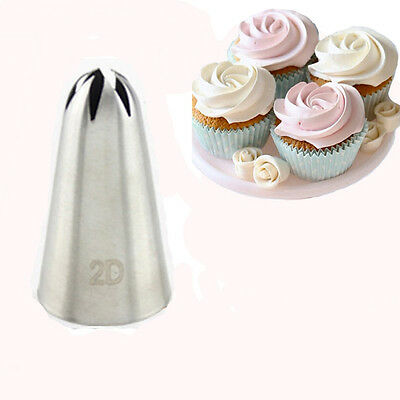 £4.26 • Buy #2D Large Rose Flower Cake Pastry Baking Decorating Icing Pipping Nozzles Set