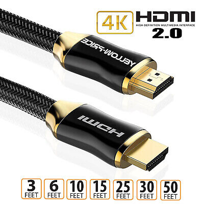 $ CDN16.14 • Buy HDMI Cable 15/25/30 Feet- HDMI 2.0 26AWG,CL3 In Wall 4K 3D HDCP 2.2 ARC+Ethernet