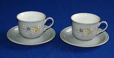 Denby Reflections 2 X Tea Cups & Saucers. 1st Quality.  • 9.99£