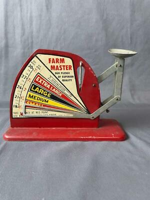 $49.99 • Buy Vintage Farm Master Egg Metal Scale In Red Mgo