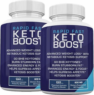 $30.95 • Buy RAPID FAST KETO BOOST GoBHB 120 CAPSULES 2 MONTH SUPPLY ** FAST SHIPPING**